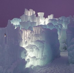 Ice Castles at Silverthorne night