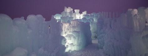 Ice Castles at Silverthorne night