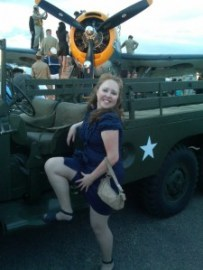 The Mayor showing a little leg at the 1940s WWII Ball