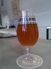 Pint glass at Loveland Aleworks