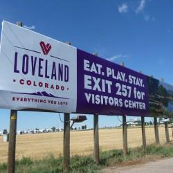 Loveland Colorado billboard on I25