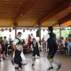 boys dancing at Biergarten Festival