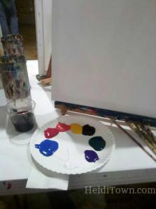 getting ready to paint at studio vino