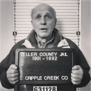 My father-in-law goofing off at the Cripple Creek jail museum by HeidiTown