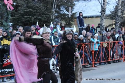Dancing viking woman Ullr Parade 2013 HeidiTown