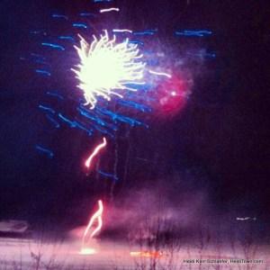 Fireworks over Grand Lake HeidiTown.com