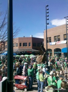 A sea of green in downtown Fort Collins for St. Patrick's Day 2012 HeidiTown