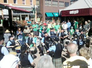 The pipers at St. Patrick's Day in Fort Collins 2012 HeidiTown