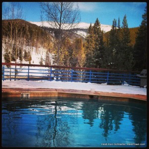 the pool at Iron Horse Resort Winter Park Feb 2013 HeidiTown.com