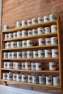 Customer mugs inside Silver Grill in Fort Collins, HeidiTown.com