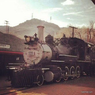 Engine at the Colorado Railroad Museum HeidiTown