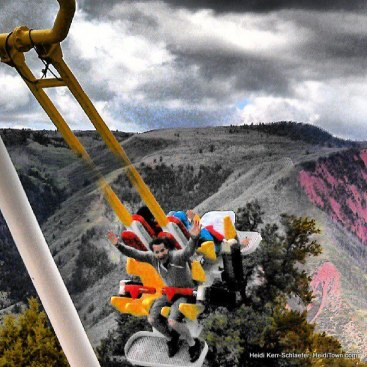 Ryan on the Giant Canyon Swing at Glenwood Caverns Adventure Park