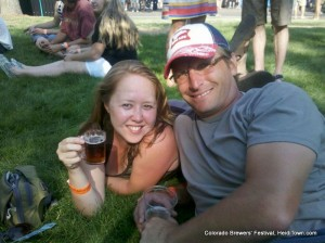 The Mayor of HeidiTown hanging out at CO Brewers Fest 2012 in Fort Collins, Colorado
