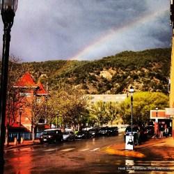rainbow in downtown Glenwood Springs HeidiTown