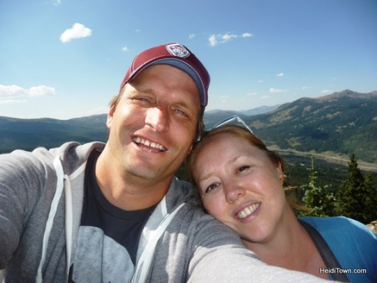Ryan Schlaefer and Heidi Kerr-Schlaefer on top of Copper Mountain. HeidiTown.com