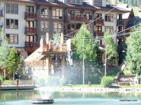 Zip lining at Copper Mountain. Photo by Ryan Schlaefer.