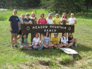 GACCCO Girl Scout Troop at Meadow Mountain Ranch Zip Line for Taite Project