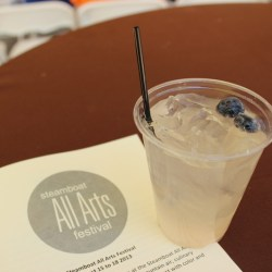 Steamboat All Arts Festvial 2013 a cocktail by JJ of Laundry Kitchen & Cocktails, voted bartender of the year in the Steamboat Pilot.