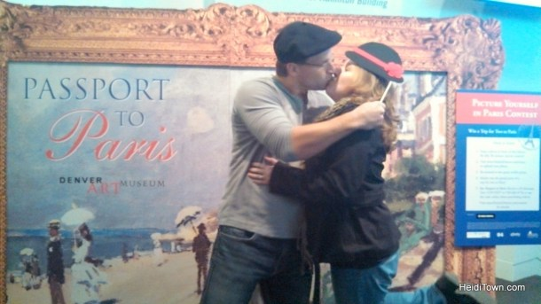 Heidi & Ryan at Passport to Paris at the Denver Art Museum.