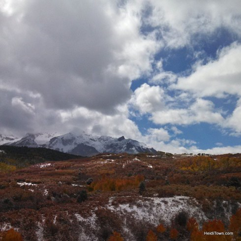 Ridgeway to Telluride a snowy viewpoint