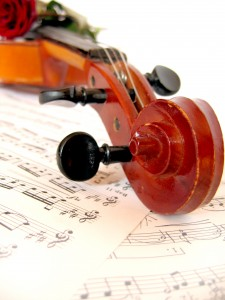 Part of violin on music sheet