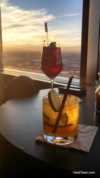 Drinks at Peaks Lounge in Denver, Colorado. HeidiTown.com