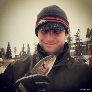 Ice fishing with Rocky Mountain Outfitters in Grand Lake, Colorado. Rainbow trout. HeidiTown.com
