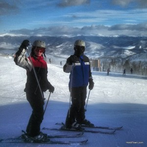 friends on the mountain at Breckenridge Ski Resort. Ullr Fest 2014. HeidiTown.com