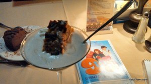 watermarked 9 to 5 photo of dessert at Candlelight Dinner Playhouse. HeidiTown.com