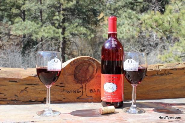 the wines of Colorado in Cascade. HeidiTown.com