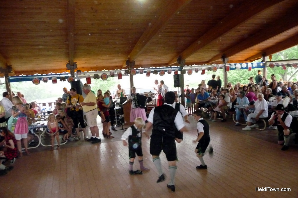 boys dancing at Biergarten Fest in 2011. HeidiTown.com