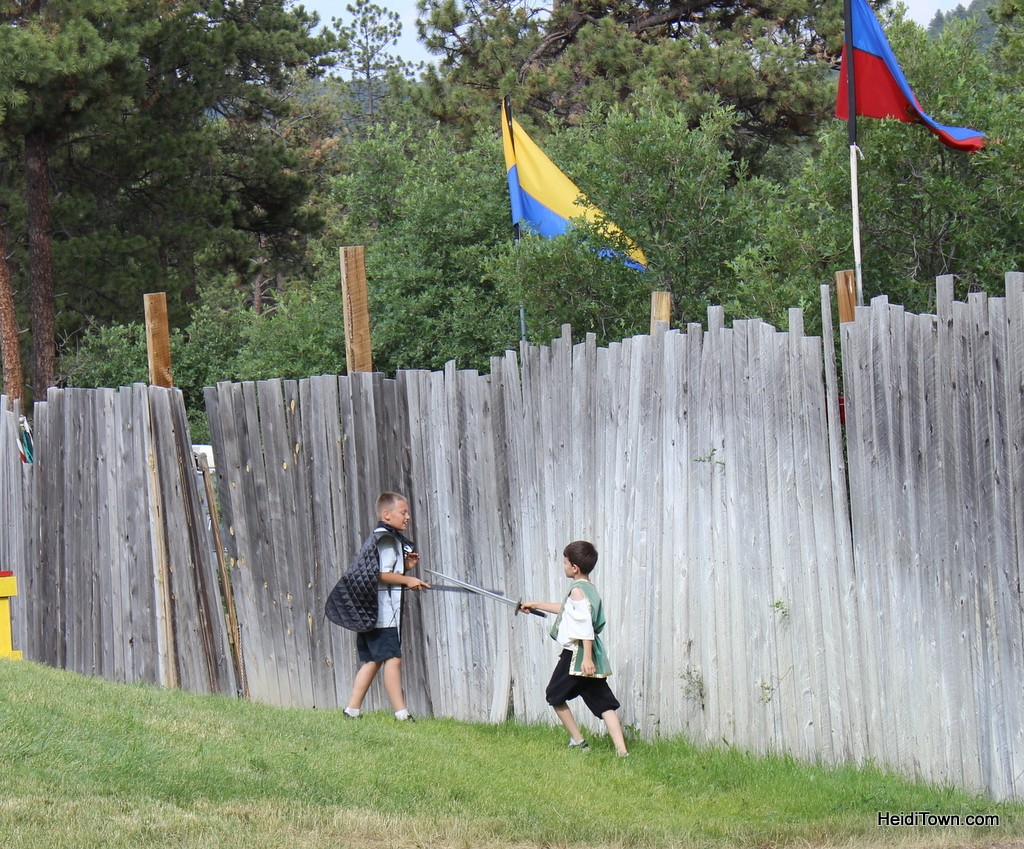 sword fights break out everywhere at the Colorado Renaissance Festival. HeidiTown.com