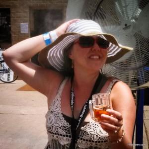 Heidi Kerr-Schlaefer at Colorado Brewers' Festival in 2013. HeidiTown.com