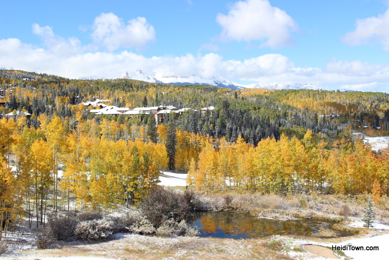 the view from The Peaks Resort in Telluride, Colorado in the fall. HeidiTown.com