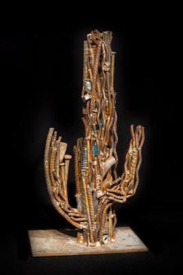 Reclaimed steel & glass. By JADE ART.
