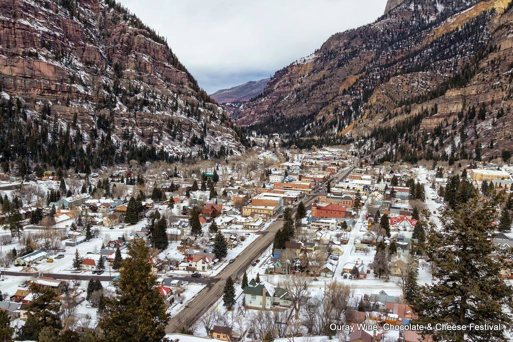 Ouray Colorado in the winter. HeidiTown.com