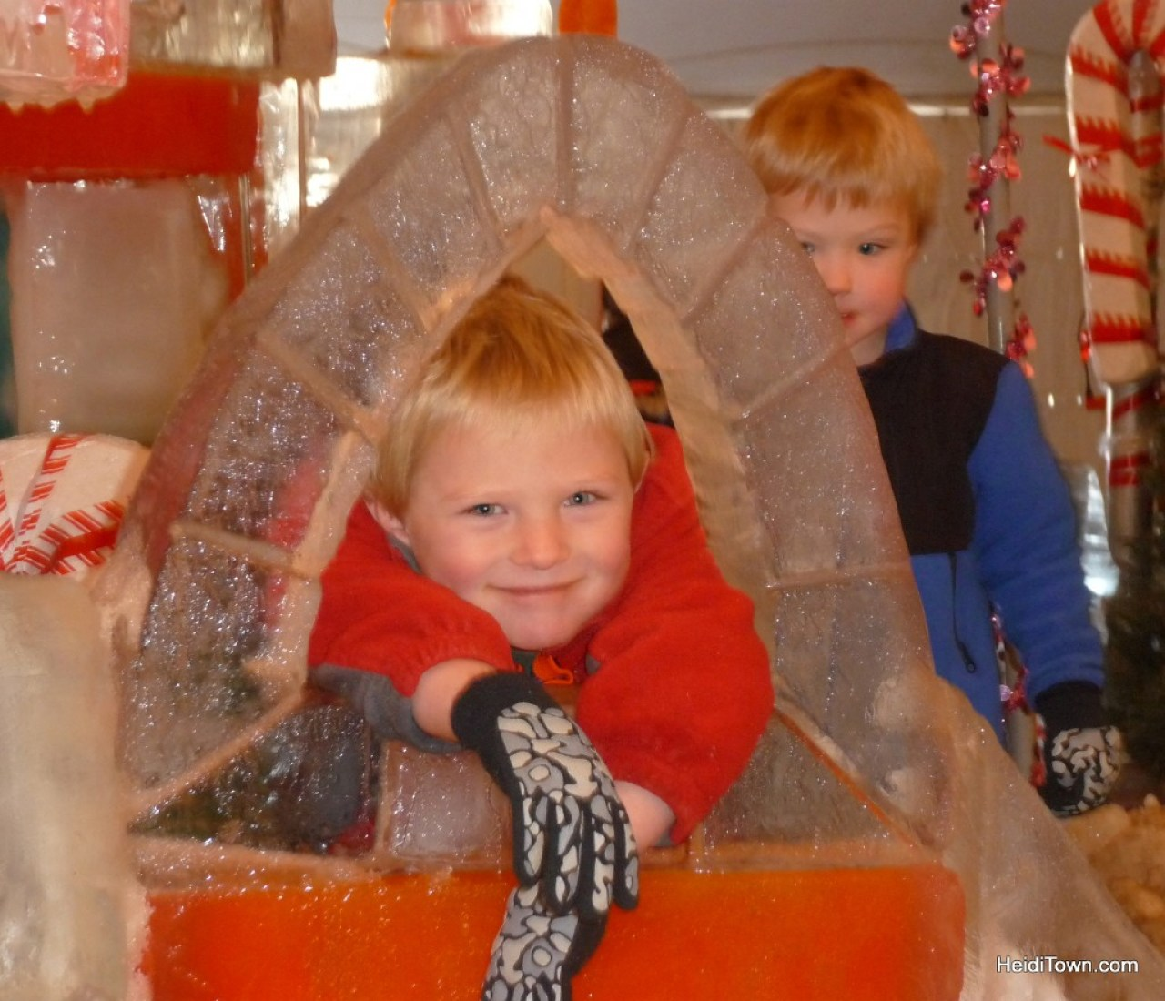 A very happy kiddo at Estes Park Winter Festival 2012.