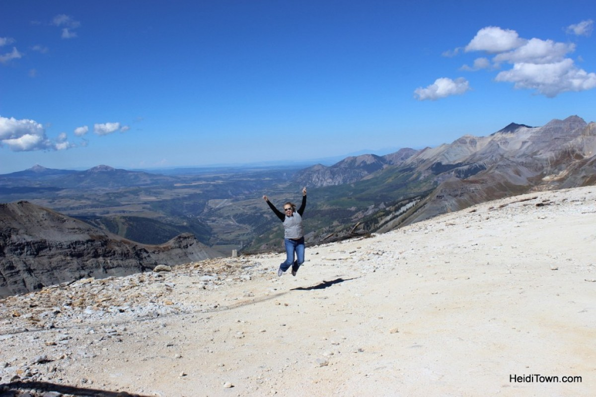 Top of Imogene Pass outside of Ouray, Colorado. Alpine Scenic Tours. HeidiTown.com