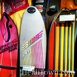 80s snowboards at the Colorado ski & snowboard museum in Vail, Colorado. HeidiTown.com