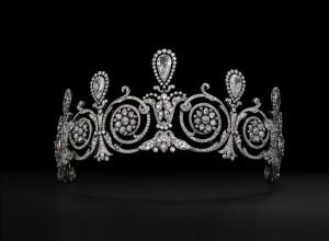 Title: Tiara worn by Mrs. Townsend. Cartier Paris, special order, 1905.
