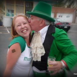 The Mayor and a Leprachaun. St. Patrick's Day in Colorado. HeidiTown.com