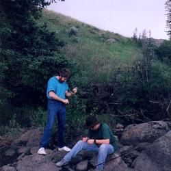 1994 fishing on the LeMar River in Montana. HeidiTown.com