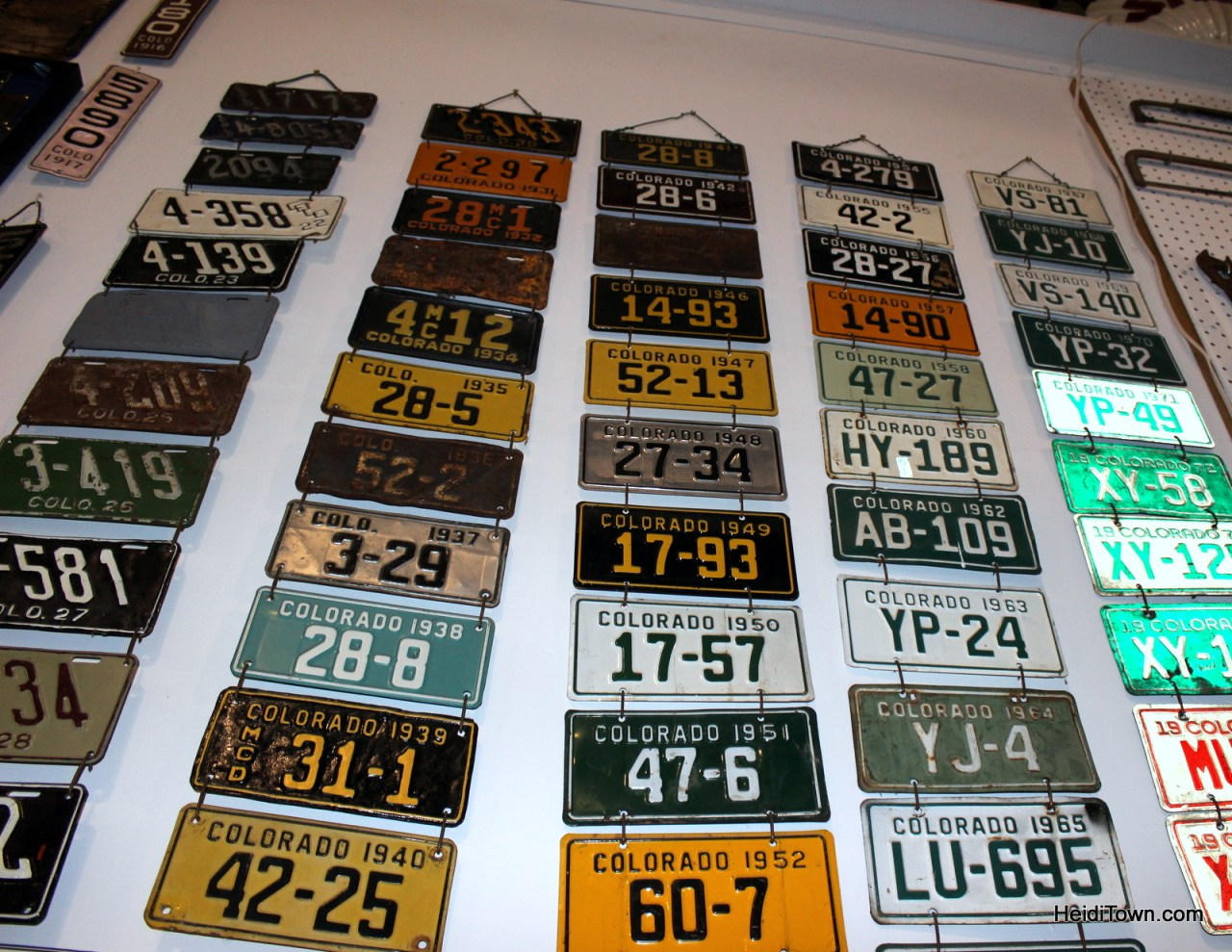 Colorado license plate collection at the Wyman Museum in Craig. HeidiTown.com