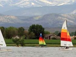 Sailing on Boyd Lake, Colorado. HeidiTown.com