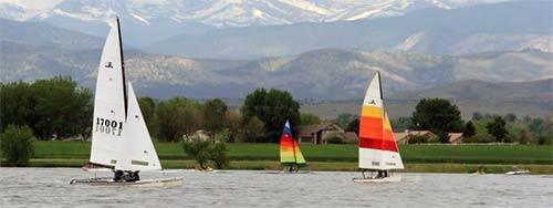 Sailing on Boyd Lake, Colorado. HeidiTown.com