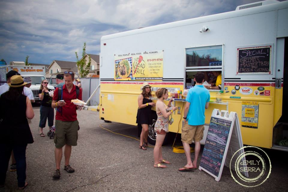 Food truck at Front Range Rally. Photo by Emily Sierra Photography. HeidiTown.com