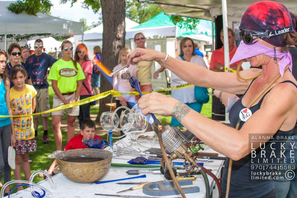 action shot Art in the Park, photo by Lucky Brake, Ltd. HeidiTown.com
