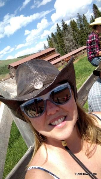 Playing cowgirl at Latigo Ranch. HeidiTown.com