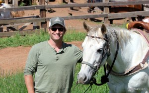 Ryan and Shadowfax at Latigo Ranch in Kremmling, Colorado. HeidiTown.com