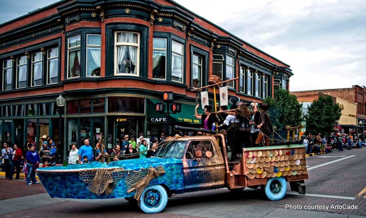 art car at ArtoCade in Trinidad, Colorado